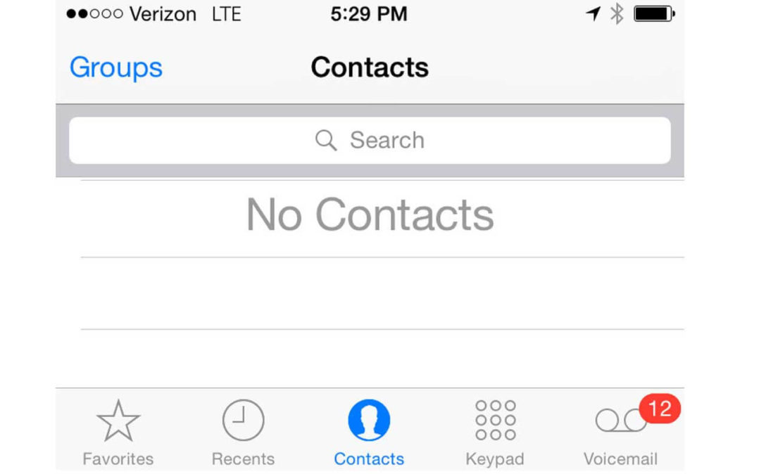Contacts Missing From iPhone iPad iCloud