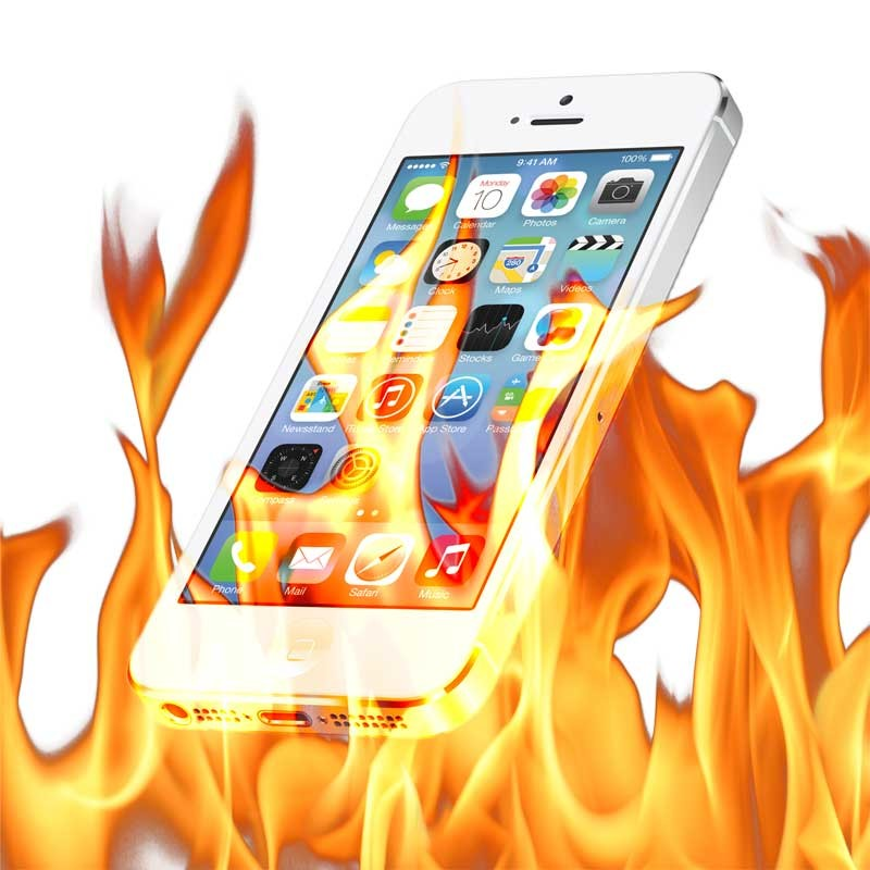 how to see how hot my iphone is