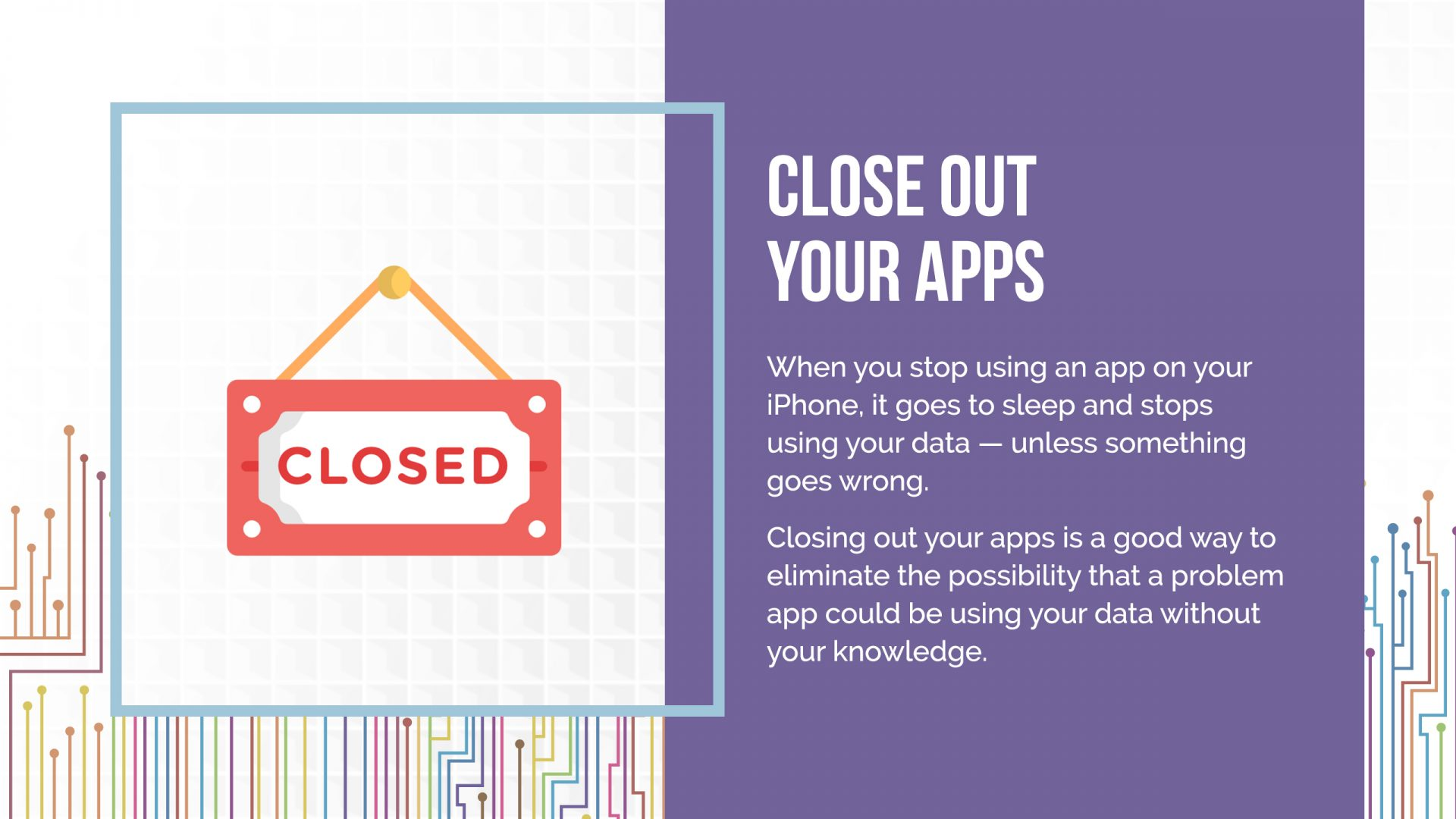 closing out apps on iphone