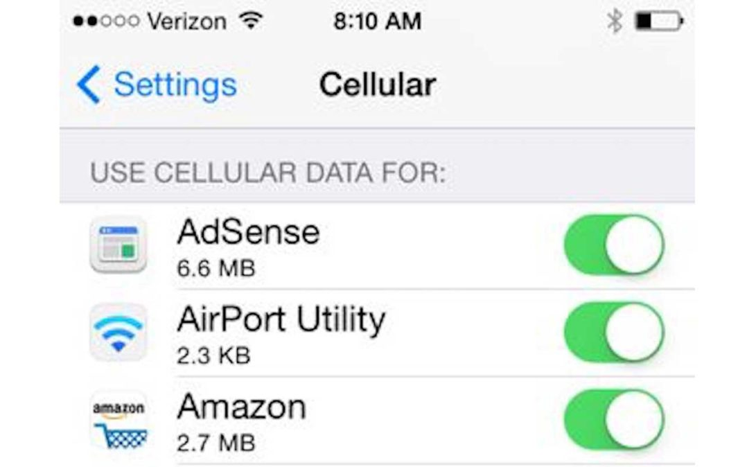 blog using more data from your cell phone plan