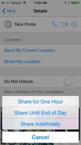 Share My Location iPhone