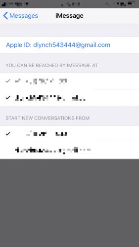 send & receive messages settings