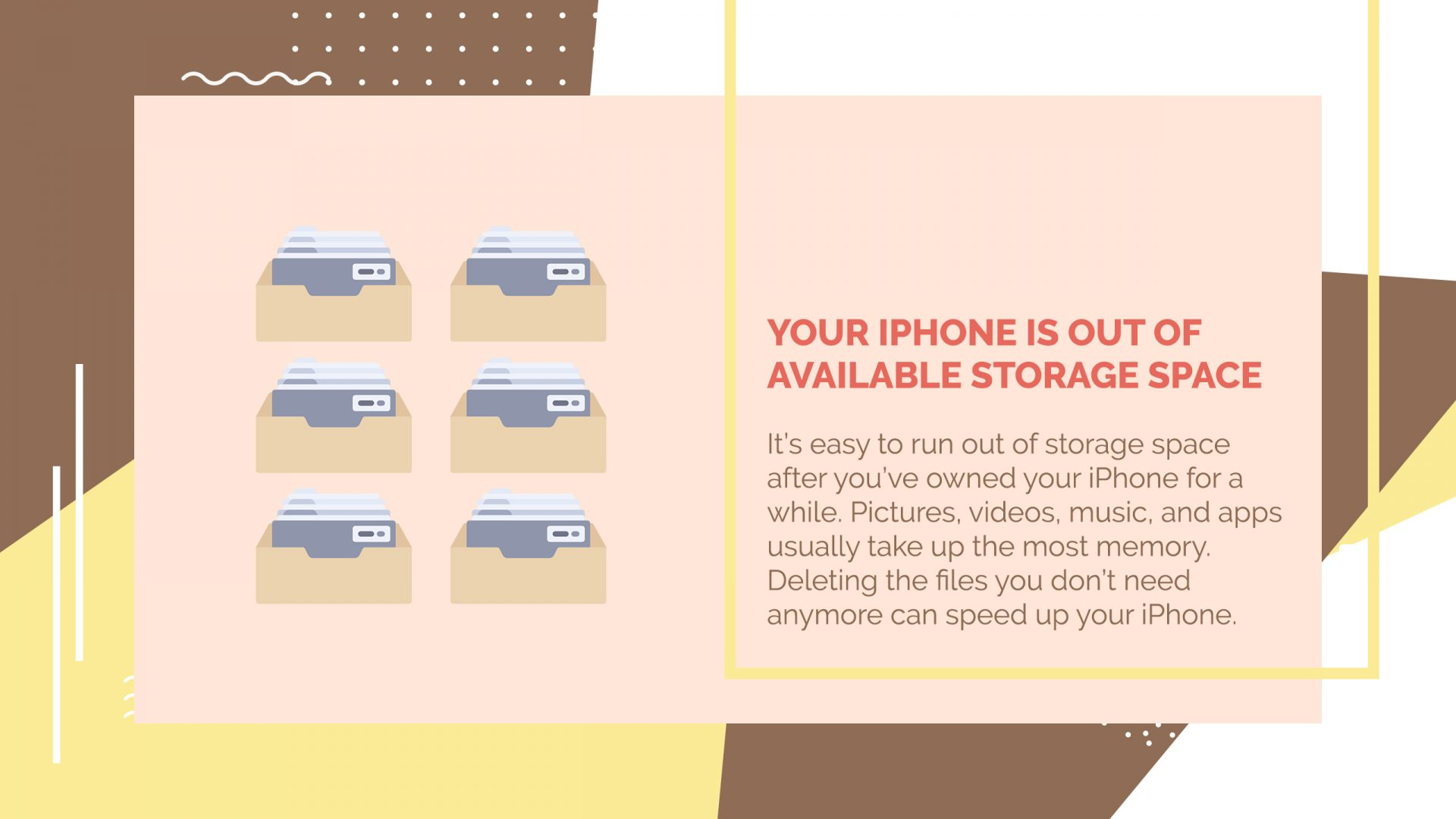 no available storage for iphone