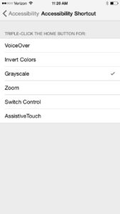 Grayscale Accessibility Shortcut