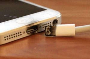 scorched iphone usb cable