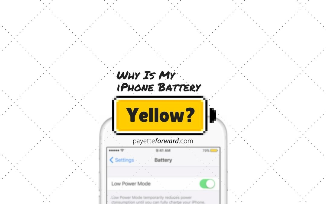 Why is my iPhone battery yellow?