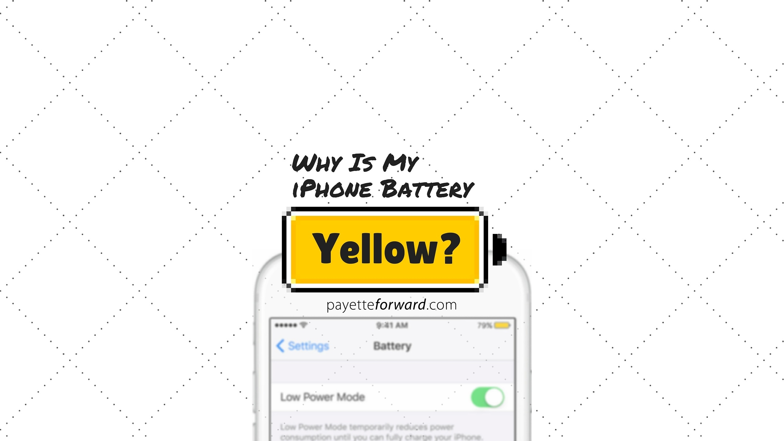 why is my iphone not turning on why is my iphone battery yellow here s the fix 3253