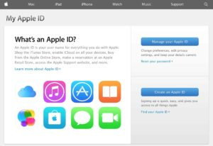 apple's apple id website