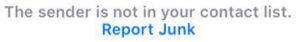 Report Junk iPhone iMessage Spam