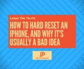 How To Hard Reset An iPhone & Why It's Bad: An Apple Tech Explains!