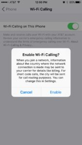 enable wi-fi calling iphone