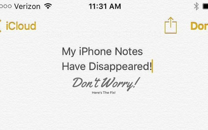 My iPhone Notes Have Disappeared! The Fix.