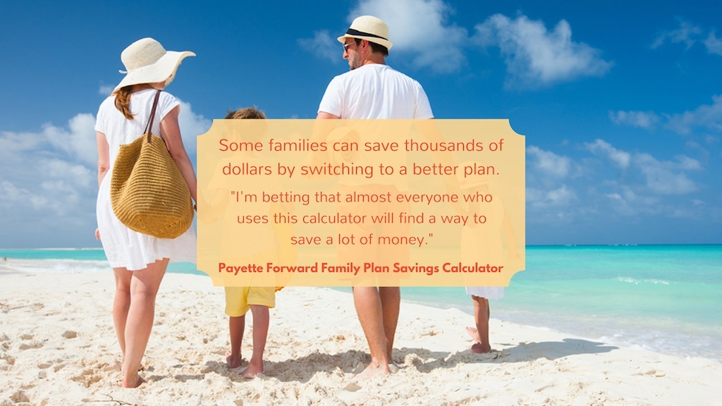 cell phone family plan savings calculator