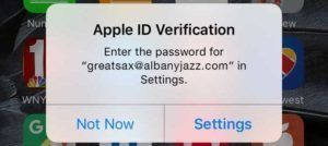 Apple ID Verification Box With Background