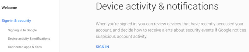 Device Activity And Notifications