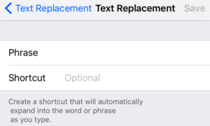 New Text Replacement