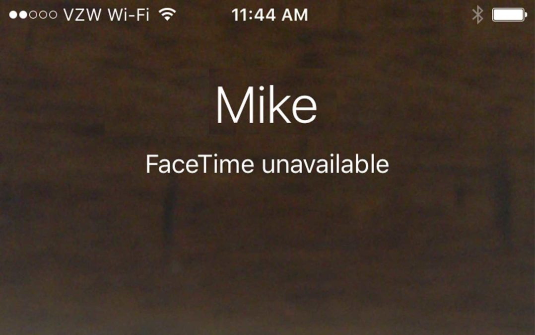 Facetime Is Not Working On My iPhone