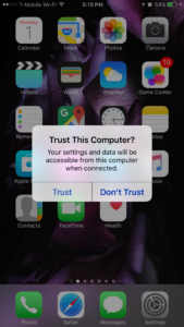 Trust This Computer iPhone