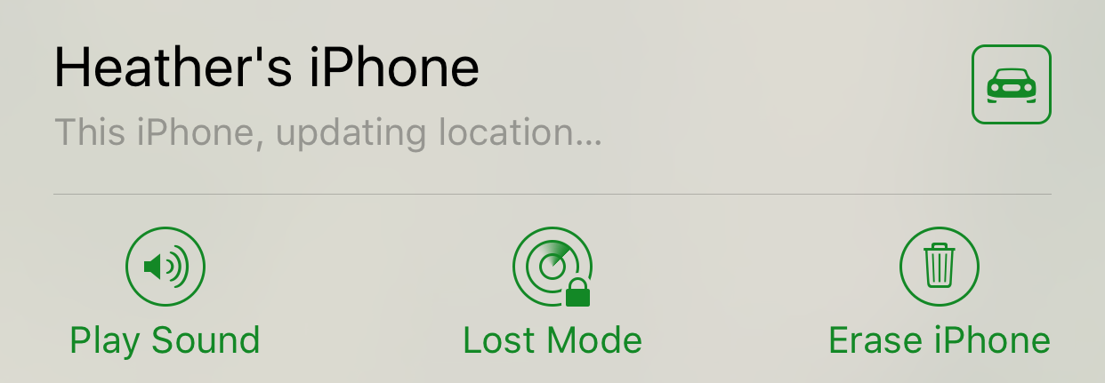 Find iPhone Options