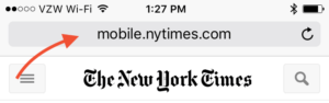 Unencrypted News Website In Safari On iPhone
