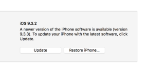 Updating your iPhone in iTunes.