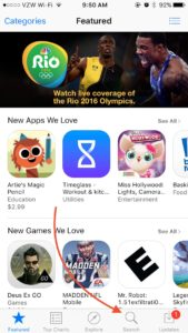 Search in App Store
