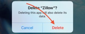 Delete App Dialog