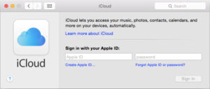 Sign in to iCloud on your Mac.