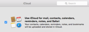 Syncing Notes and other iCloud services with your Mac.