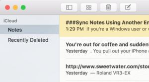 Viewing notes on your Mac.