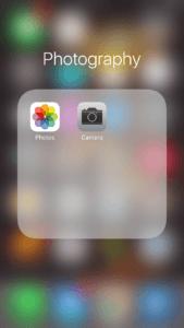 photography folder on iPhone