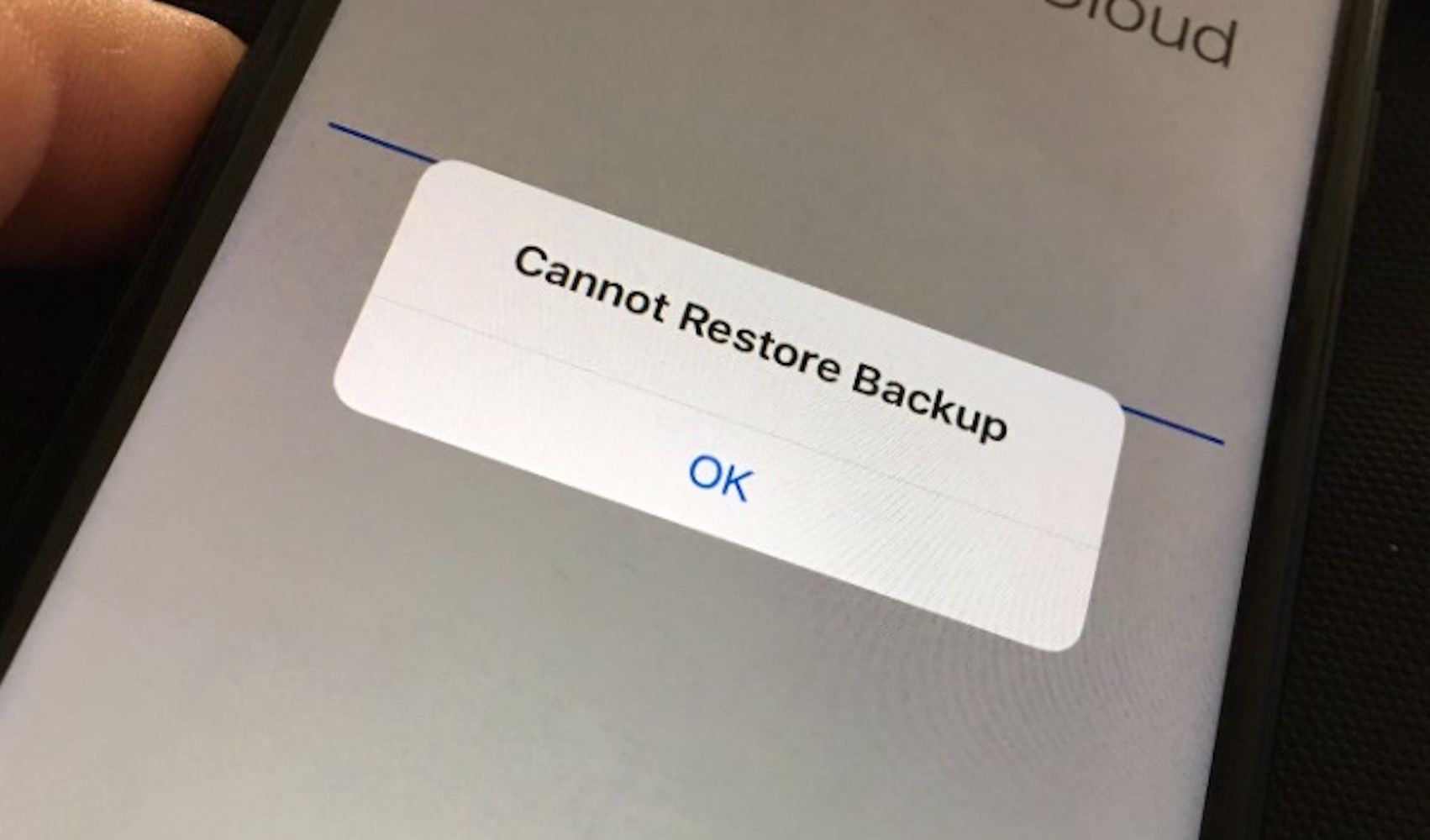 Iphone cannot restore from backup session failed