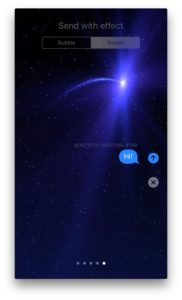Send With Shooting Star Messages App On iPhone