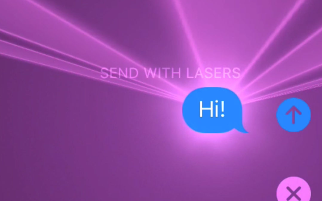 Why Are There Lasers In The Messages App On My iPhone?