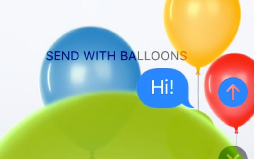 Why Are There Balloons In The Messages App On My iPhone?