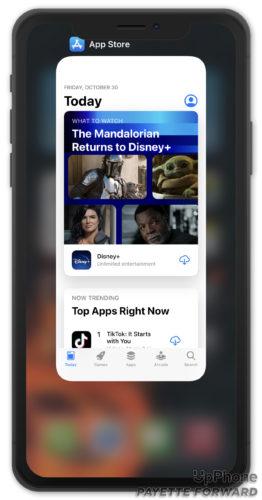 close app store