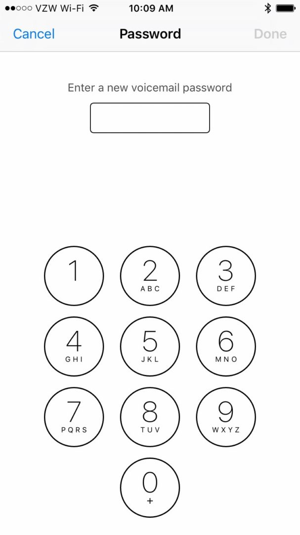 Enter New Voicemail Password iPhone