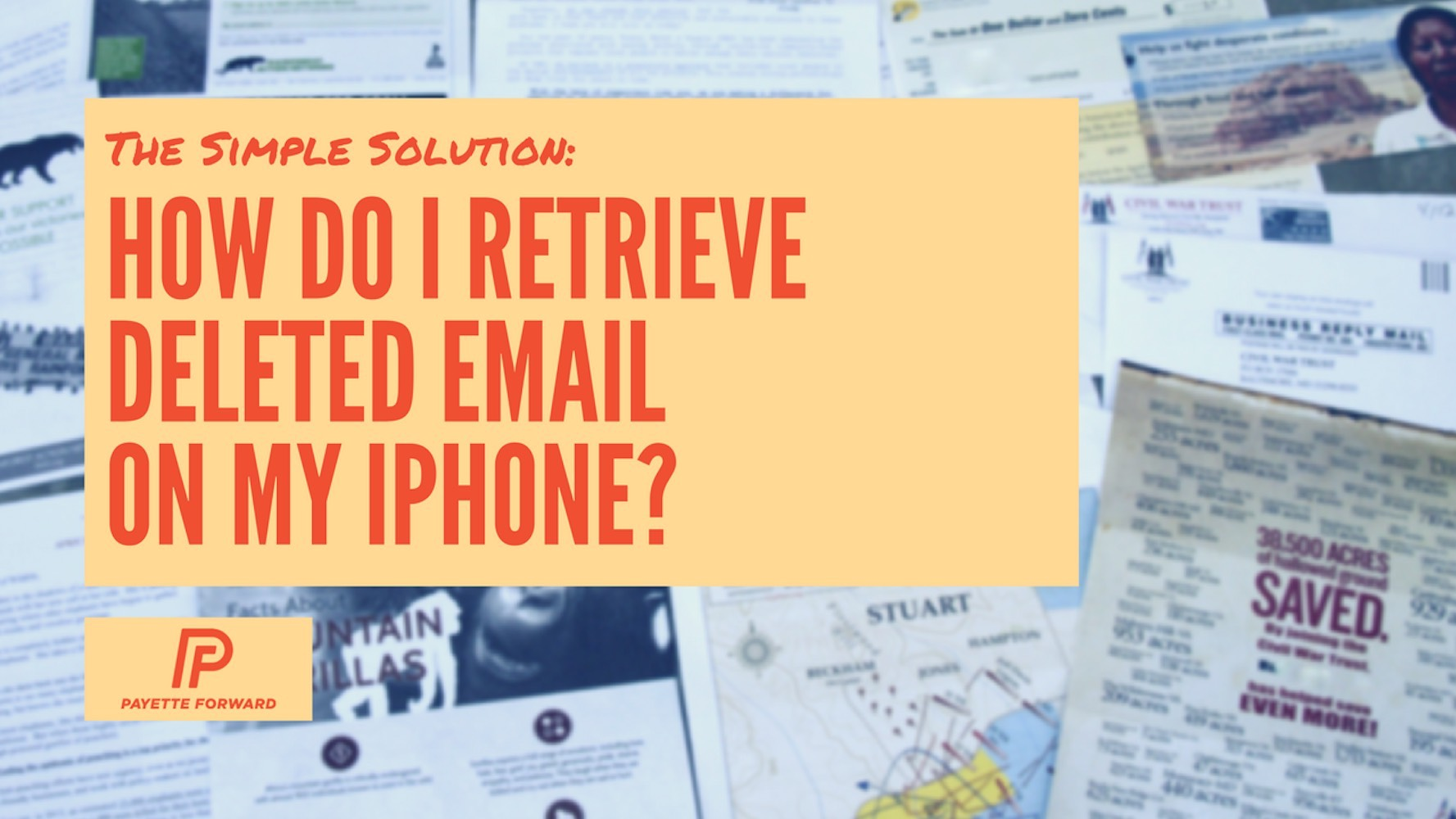 how do i recover a deleted email on my iphone