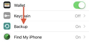 iCloud backups.