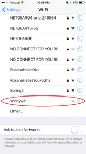 Choose secure wi-fi networks
