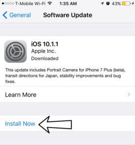 install software update