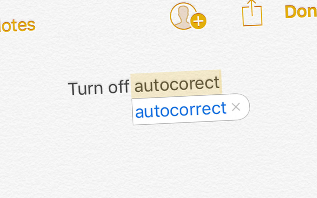 Turn Off Autocorrect On iPhone