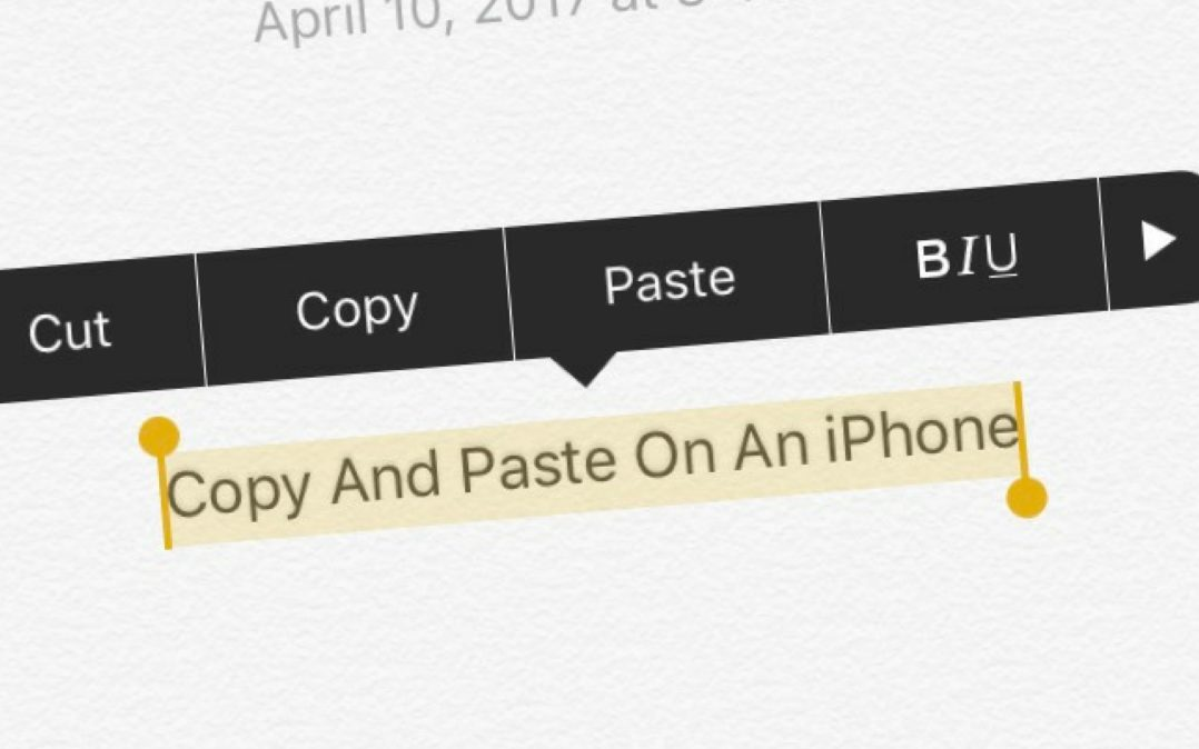 how to copy and paste on an iphone