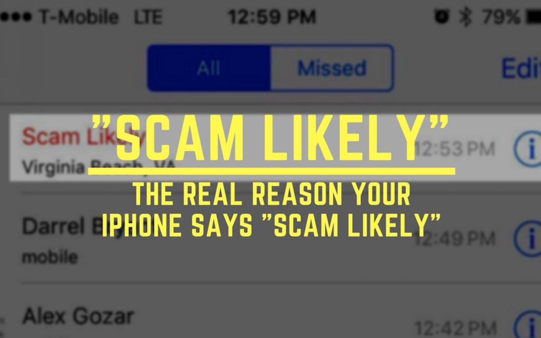 """iPhone Says """"Scam Likely"""""""