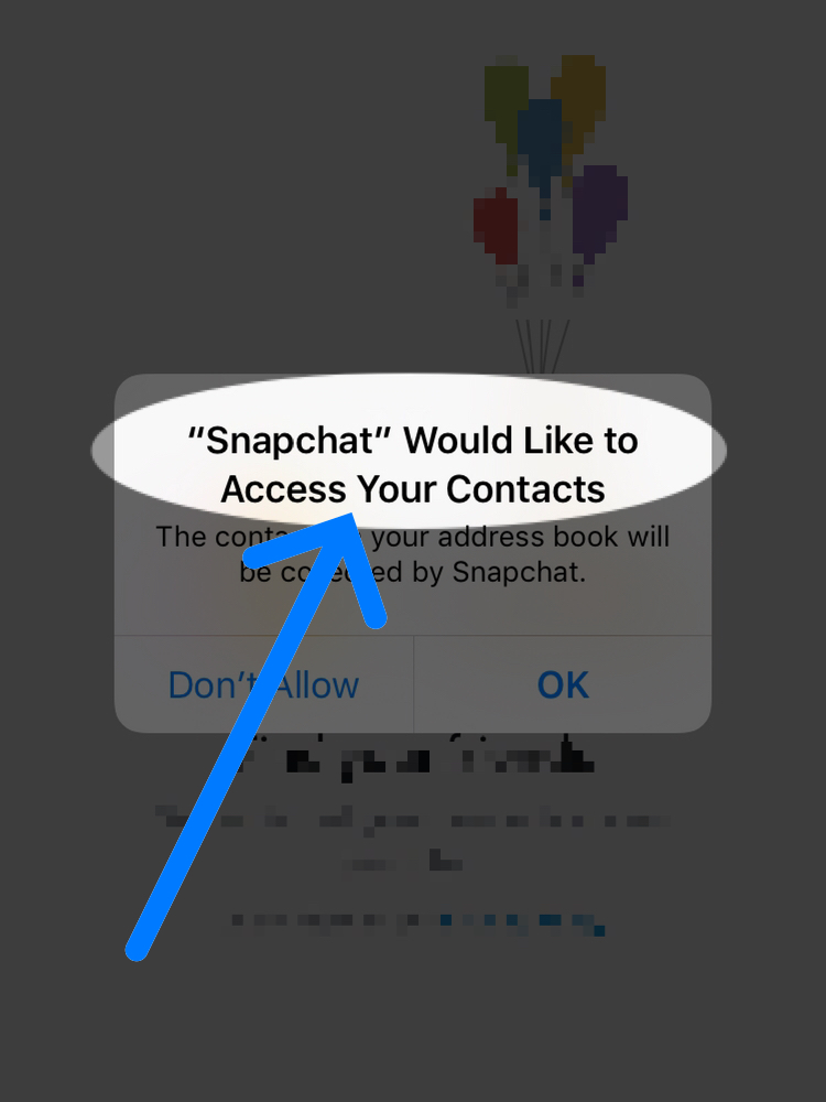 snapchat wants access to contacts security