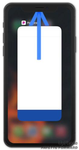 close pandora on iphone