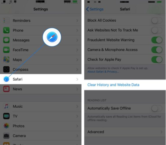 clear history safari iphone clear browser history on iphone amp the fix for safari 5760