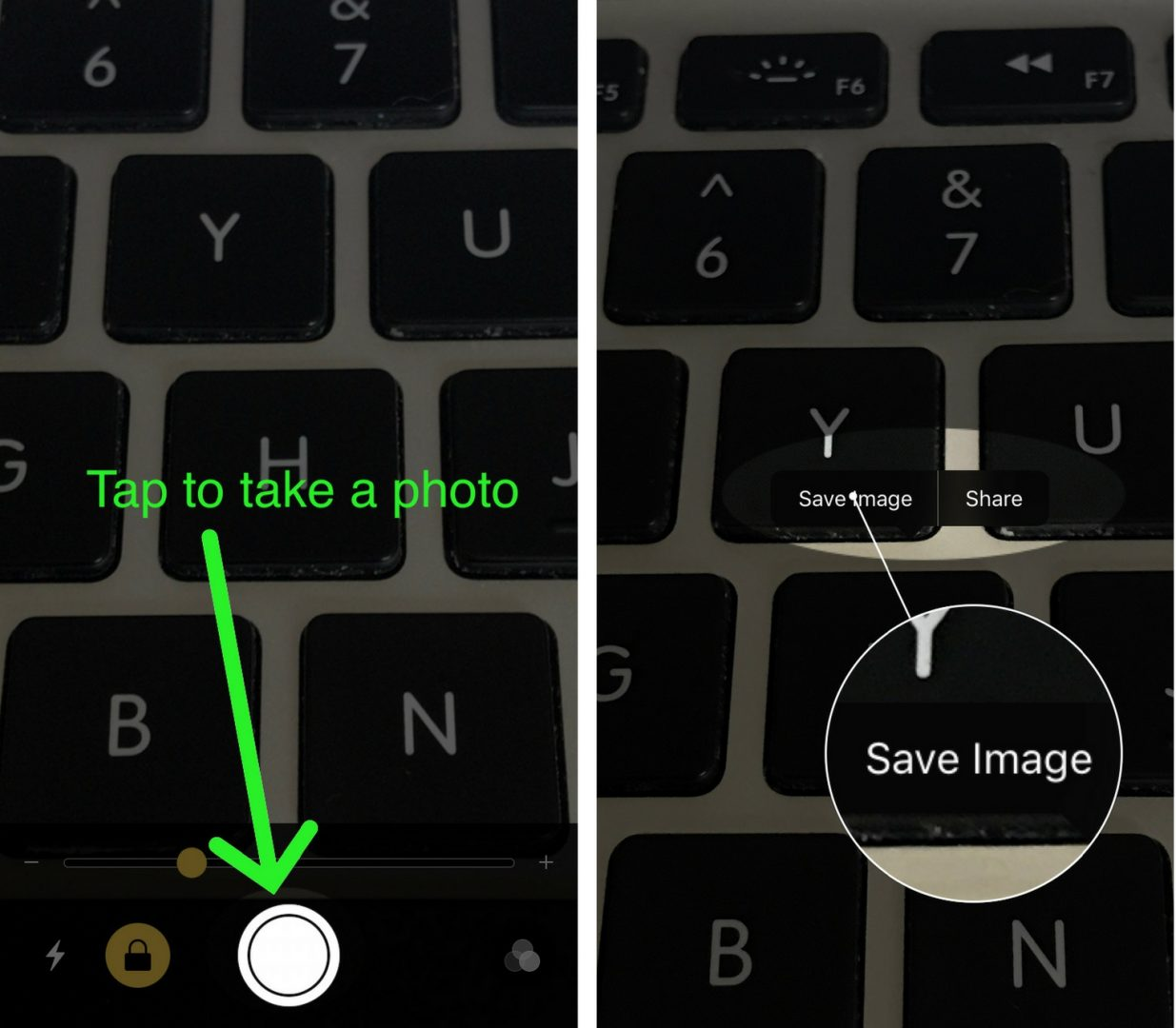 how to save image in magnifier