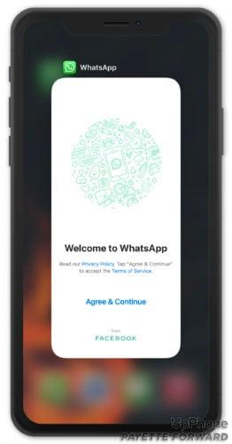 close whatsapp on iphone
