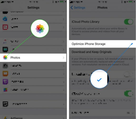how to optimize photos on an iphone